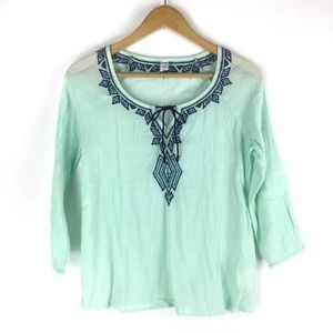 Old Navy Embroidered Peasant Top Size XS